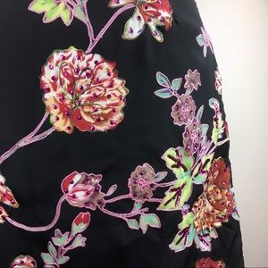 NWT Soft Surroundings Coming Up Roses Skirt
